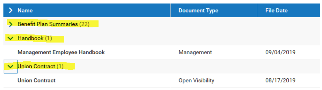 Company Documents screenshot