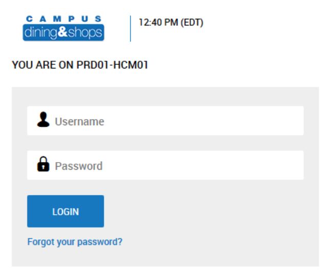 Terminated Employee Login screenshot