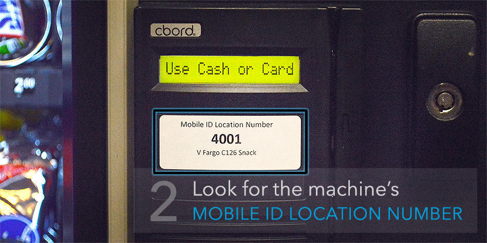 2. Look for the machine's Mobile ID location number.